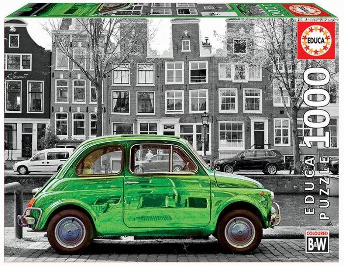 1000片 綠色汽車(黑白風格)